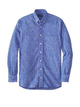 Gitman Blue Men's Solid Sportshirt (Blue)