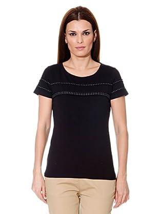 Cortefiel Camiseta Tachas (Negro)