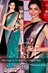 Celebrity Deepika Padukone Style Green Net Saree (110)