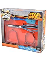 Zak Designs Star Wars Tiny Chef Baking Set for Darth Vader and R2D2 Cookies: 2 Cookie Cutters, Spatula and Whisk, 4-pc Set