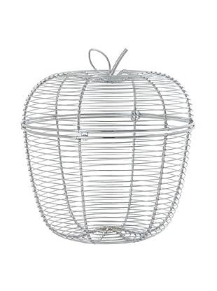 Torre & Tagus Apple Hinged Lid Wire Fruit Basket