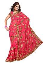 A.V.Fashion Embroidered Saree (1103_Gajari)