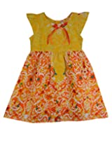 Ssmitn Kidswear Striking Yellow Frock For Girls