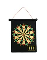 Magnetic Roll-up Dart Board and Bullseye Game with Darts 1
