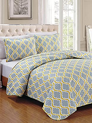 Luxury Home 3-Piece Turner Quilt Set