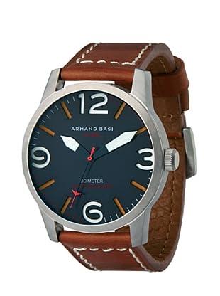 ARMAND BASI A1001G06 - Reloj de Caballero movimiento de cuarzo con correa de piel Marrón
