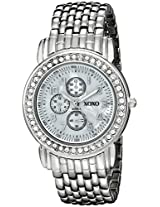 XOXO Women's XO5314  Silver-tone Bracelet With Rhinestones Accent Watch