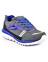 Provogue Grey And Blue Men Sports Shoes PV1065