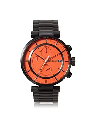 Issey Miyake Men's VK67-0010 Gunmetal/Orange Stainless Steel Watch