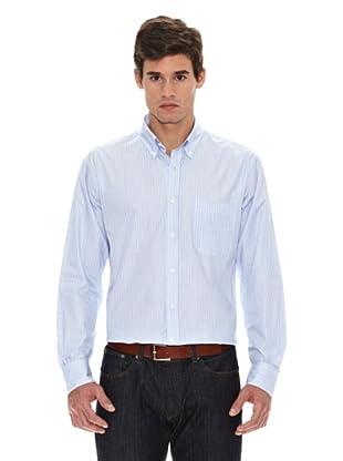 Turrau Camisa Raya Ancha Doble Bicolor (Azul)