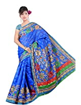 Khushali Fashion Tassar Silk Saree (Cn_Njl1947 -Blue)