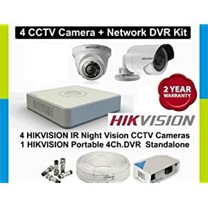 Hikvision 4 Channel DVR With 1 Indoor & 1 Outdoor CCTV Camera Surveillance Kit