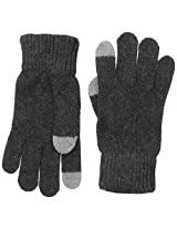 Haggar Men's Cable Knit G Ove, Charcoal, One Size