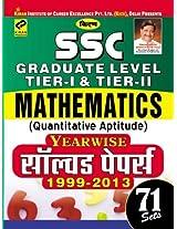 SSC Graduate Level Tier-I & Tier-II Mathematics (Quantitative Aptitude) Year Wise Solved papers 1999-2013 Set-71(Hindi)