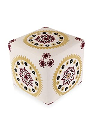 Better Living Collection Medallion Square Ottoman