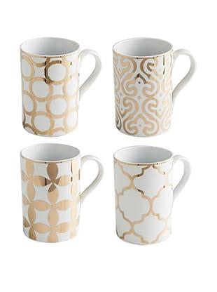 Rosanna Set of 4 Assorted Luxe Moderne 11-Oz. Mugs