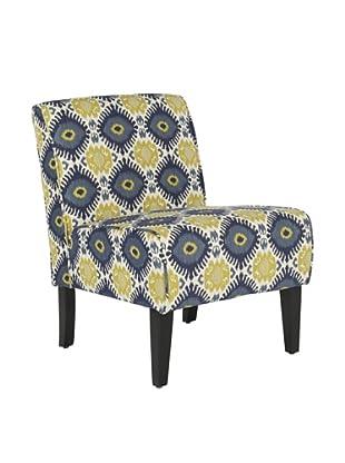 Safavieh Lisimba Armless Club Chair, Multi Green/Blue/Off White