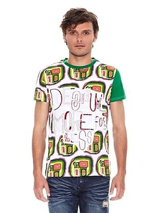 Desigual Camiseta Fino Rep (Blanco / Verde)