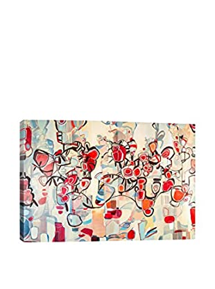 Rebecca Moy Gallery Ruby Blossoms Wrapped Canvas Print
