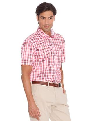 Pedro Del Hierro Camisa Bolsillos Lino (Blanco / Rojo)