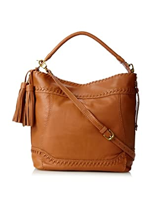 Isabella Fiore Women's Whipped Hobo, Cognac