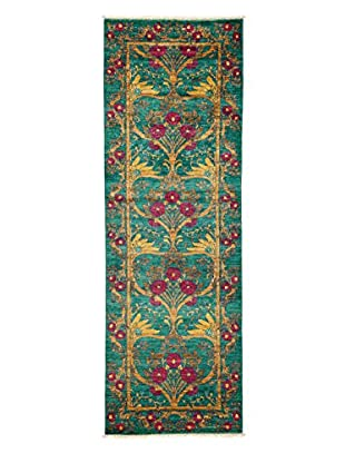 Darya Rugs Arts & Crafts Handmade Rug, Teal, 2' 9