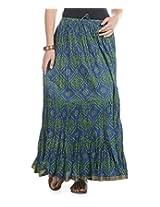 Soundarya Women Cotton Jaipuri Bandhej Printed Long Skirt