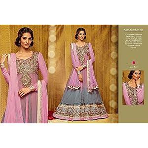 Aria Jewls Purple Velvet Anarkali Salwar Suit