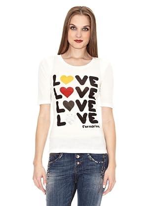 Fornarina Camiseta Catena (Blanco)