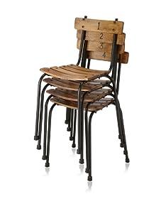 Zingaro Set of Four Public School Chairs