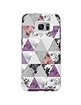 OtterBox SYMMETRY SERIES Case for Samsung Galaxy S7 Edge - Retail Packaging - PERFECTED ANGLES (WHITE/DAMSON PURPLE/GRAPHIC)