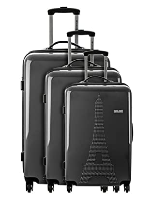 Platinium Set 3 Trolleys 4 Ruedas París (Antracita)
