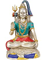 Exotic India Lord Shiva - Brass Statue With Inlay