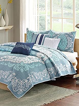 Luxury Home Cameo 6-Piece Coverlet Set