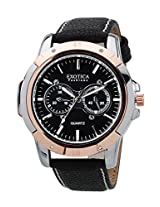 Exotica Black Dial Analogue Watch for Men (EFG-05-TT-DM-B)