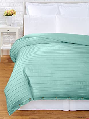 Coyuchi Pleated Sateen Duvet Cover (Jade)