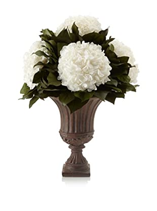 Forever Green Art Five Head White Hydrangea Vase