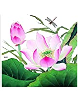 "Spestyle New And Fashion Design Extra Large Design 8.07 X 8.58"" Inches (20.5 Cm*21.8 Cm) Big Lotus Flower With Dragonfly Fake Temp Tattoo Stickers"
