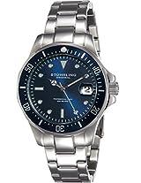 Stuhrling Original Aquadiver Analog Blue Dial Men's Watch - 664.02