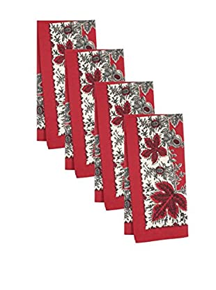 KAF Home Set of 4 Botanique Print Napkins