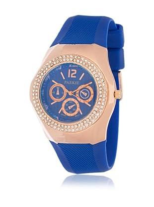 My Silver Reloj Reloj Rosado Azul Strass