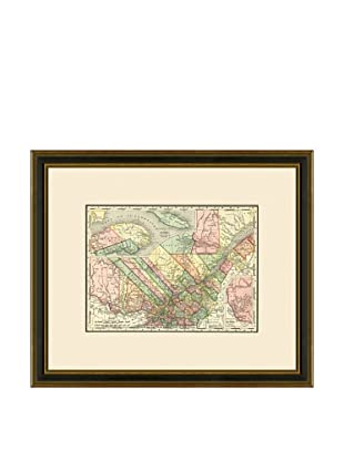 Antique Lithographic Map of Quebec, 1886-1899