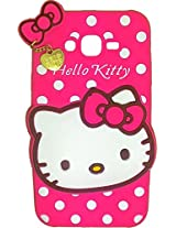 AE Cute Hello Kitty Silicone With Pendant Back Case Cover For SAMSUNG GALAXY A8 PINK