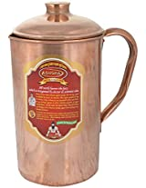 Artistic Handicrafts Copper Jug, 1.5 Litre, 1 Piece, Brown (AH_24)