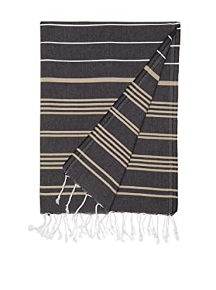 Nine Space Multi-Stripe Fouta Towel (Black)