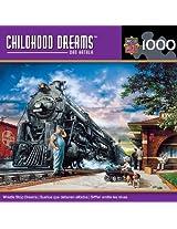 1000-Piece Whistlestop Dreams Puzzle Art by Dan Hatala