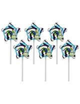 Kandee Starz Blueberry Blast (Pack of 6 Natural Colour Candy Lollipop)