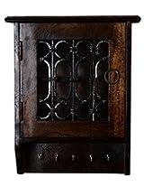 Traditional Brown Wood Polished Vintage Keys Holder By Rajrang