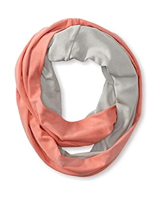 Kate Spade Saturday Women's Two-Sided Loop Scarf, Pale Grey/Neon Coral