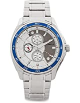 Timex E-Class Analog Watch - For Men Silver-TI000T80000
